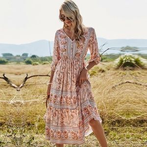Gwyneth Casual Chic Prairie Dress